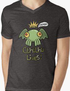 Cthulhu Lives! Mens V-Neck T-Shirt