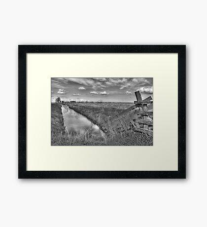 Frysian landscape Framed Print
