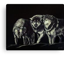 """""""The Wolves Are Here"""" Canvas Print"""