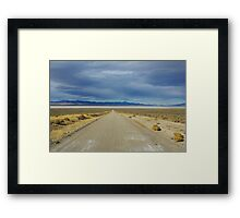 Into the nothingness Framed Print