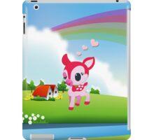 Cute Love Deer Fawn with Rainbow Country Scene iPad Case/Skin