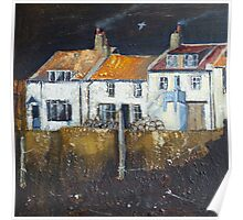 Cowbar Cottages, Staithes Poster