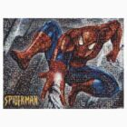 Mosaic Spiderman Tee by scribblegraph