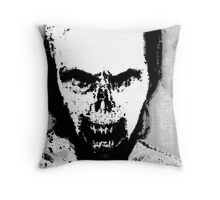 Black and White Zombie Portrait Throw Pillow