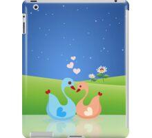Cute Swan Couple Full of Love Heart iPad Case/Skin