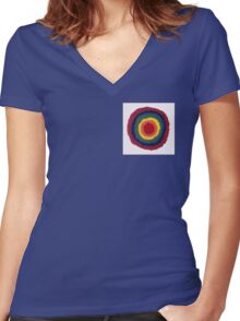 Dizzy rainbow Women's Fitted V-Neck T-Shirt