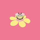 Happy Cartoon Bee Kids IPhone Case by Boriana Giormova