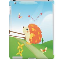 Cute Love Hedgehog with Butterfly Sunny Day iPad Case/Skin