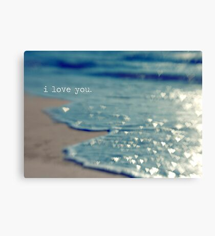 valentine - i love you Canvas Print