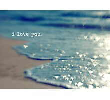 valentine - i love you Photographic Print