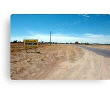 drive slowly and enjoy our town Canvas Print