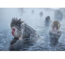 relaxing in the hot springs Photographic Print