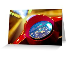 Red Vespa in the traffic Greeting Card