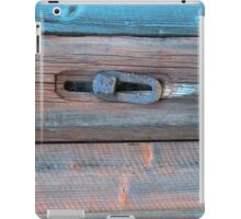 Old barn wall and lock iPad Case/Skin