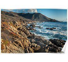 Sunset on California Coast - Garrapata State Park Poster