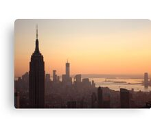 Empire State at Sunset Canvas Print