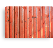 Red plank wall Canvas Print