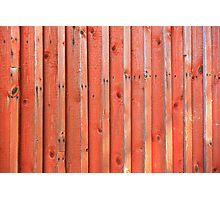 Red plank wall Photographic Print