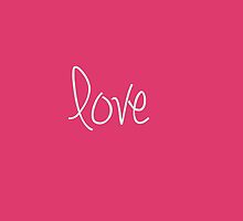 Love In Pink Design by Nicola  Pearson