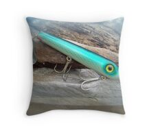 AJS Green Serpent Flaptail Saltwater Lure Throw Pillow