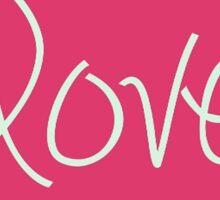Love In Pink Design Sticker
