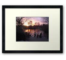 Tranquil glow of Winter Framed Print