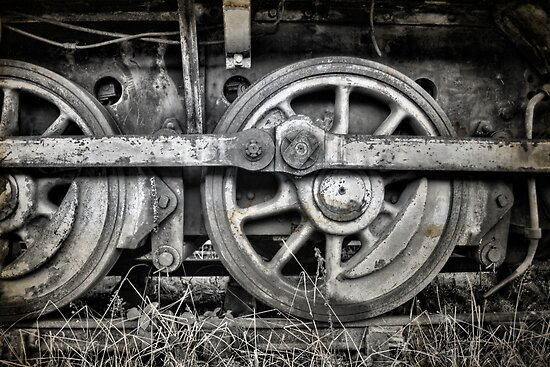 Vintage Train Wheels by Great North Views