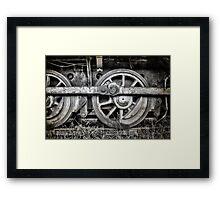 Vintage Train Wheels Framed Print