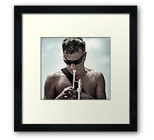 Playing for the Seaside only. Framed Print