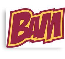 BAM Comic Sound Effect T-Shirt - Red Canvas Print
