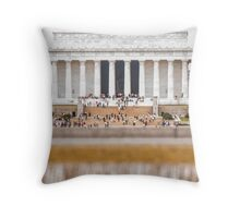 Cascading Water at Lincolns Feet Throw Pillow