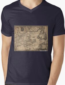 Province of Nova Scotia Canada Map (1776) Mens V-Neck T-Shirt