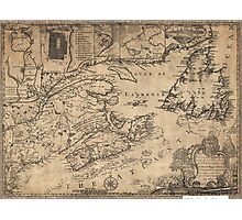Province of Nova Scotia Canada Map (1776) Photographic Print