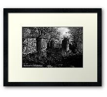Stone Pillars, Clovervale, Abandoned Country House, County Antrim Framed Print