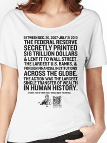 Federal Reserve Audit Shirt Women's Relaxed Fit T-Shirt