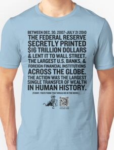 Federal Reserve Audit Shirt T-Shirt