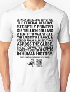Federal Reserve Audit Shirt T-Shirt