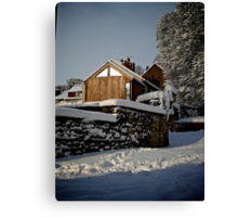 Settled Snow Canvas Print