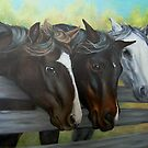Three Gentle Brown Eyes by Pam Humbargar