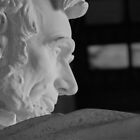 Lincoln Contemplating his Profile by Kurt LaRue