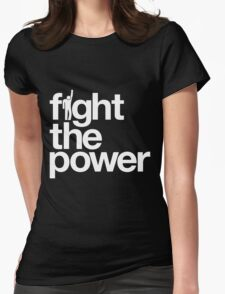 Fight the Power Womens Fitted T-Shirt