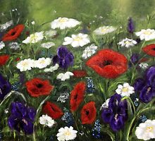 Painted flowerfield by Antionette