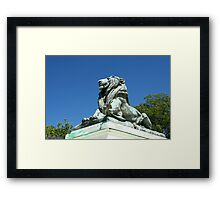 Capitol Lion Framed Print