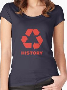 Recycle History Women's Fitted Scoop T-Shirt