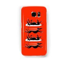 Zoomin' Snoozin' Galaxy (red) Samsung Galaxy Case/Skin