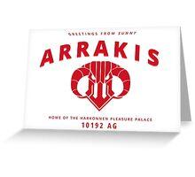 Harkonnen | Greetings from sunny Arrakis Greeting Card