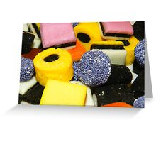 Liquorice allsorts Background Greeting Card