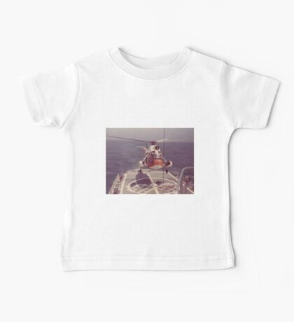 Old Coast Guard Search and Rescue Orange Helicopter T-shirt Baby Tee