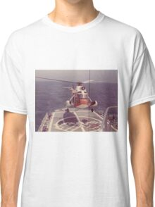 Old Coast Guard Search and Rescue Orange Helicopter T-shirt Classic T-Shirt