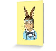 Nerd Bunny Greeting Card